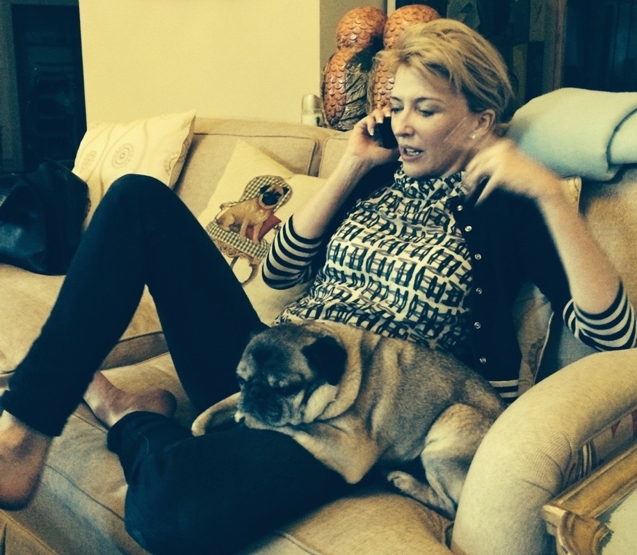 Michelle Purves at Home with Bruno
